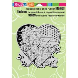 Stampendous leimasin Cherish heart