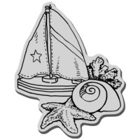 Stampendous leimasin Shells and sails