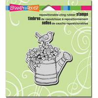 Stampendous leimasin Watering Can Bird