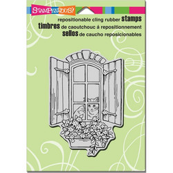 Stampendous leimasin kissa Window Kitty