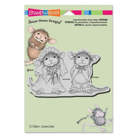 Stampendous leimasin House Mouse hääpari Mr and Meeces