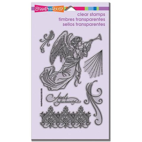 Stampendous kirkkaat leimasimet Angel trumpet