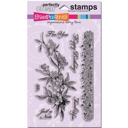 Stampendous kirkkaat leimasimet Rose Branch