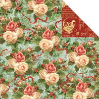 Graphic45 paperi The Twelwe Days of Christmas Chritmas rose