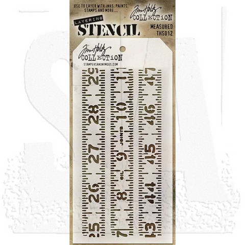 Tim Holtz sabluuna Measured