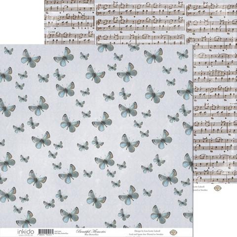 Inkido Beautiful Memories Blue Butterflies 12x12