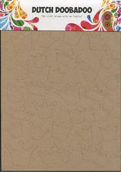 Dutch Doobadoo kartonkikuviot kruunut