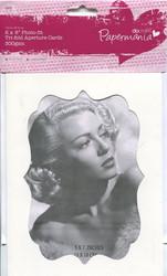 PM Photo-fit 3-osaiset aukkokorttipohjat 15,2x30,3cm 4kpl