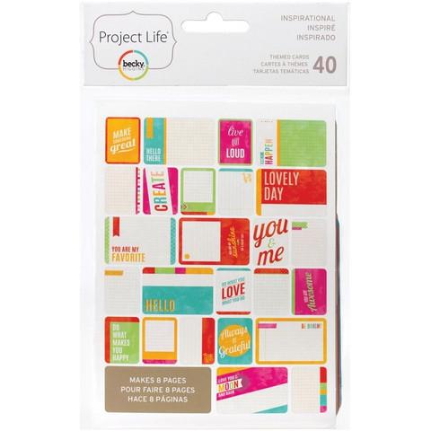 Project Life teemakortit Inspirational 40kpl