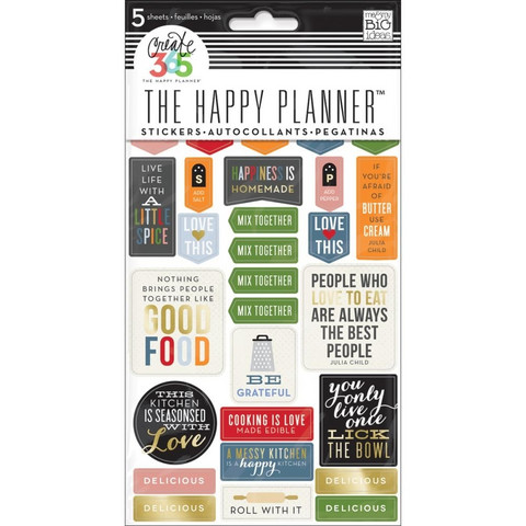 Crate365 The happy planner tarrat 5kpl FOOD