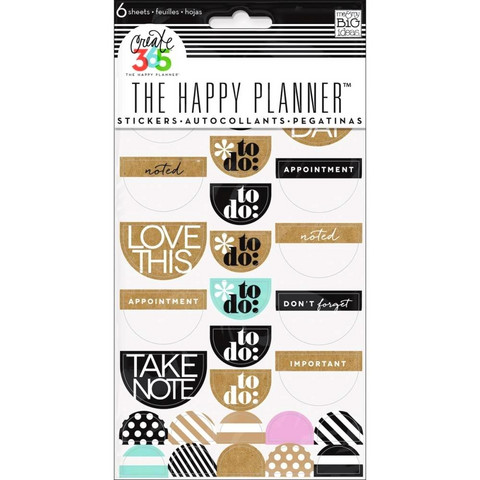 Crate365 The happy planner tarrat 6kpl Love this neutral