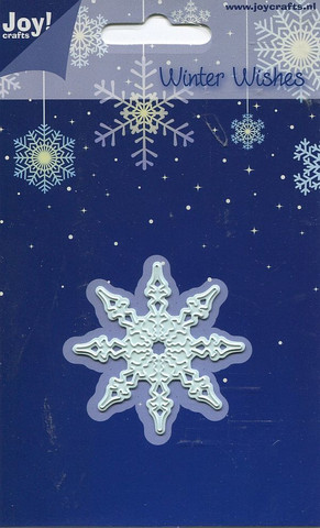 Joy Craft stanssi winter wishes medium lumihiutale