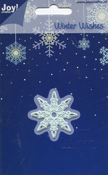 Joy Craft stanssi winter wishes pienin lumihiutale