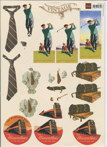 MD Vintage 3d-kuvat golf, juna