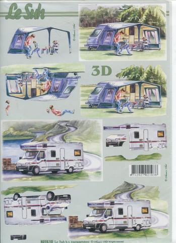 Lesuh 3d-kuva asuntoauto ja -vaunu