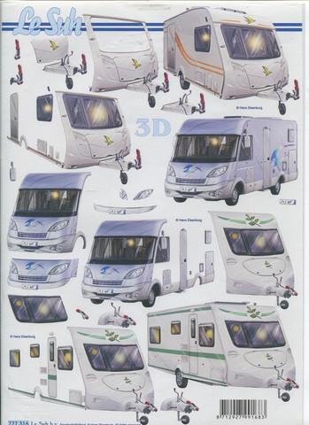 Lesuh 3d-kuva asuntovaunut ja asuntoauto