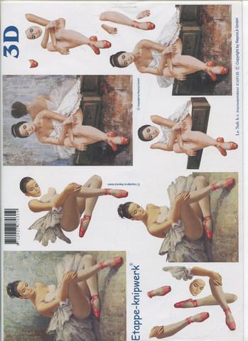 Lesuh 3d-kuva balettitanssijat