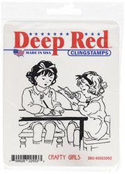Deep red leimasin Crafty Girls