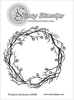 Stacy Stamps leimasin Wreath for all seasons
