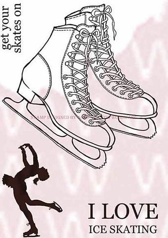 Woodware leimasinsetti Ice skates