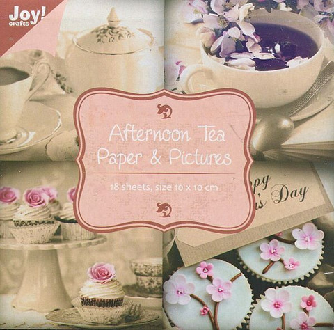 Joy Craft korttikuvakirjanen Afternoon tea 10x10 18kpl