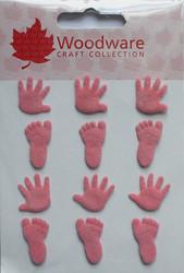 Ww käsi- ja jalkahaaraniitit vaaleanpunainen 12kpl