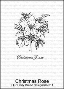 ODB leimasin Christmas Rose