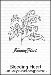 ODB leimasin Bleeding Heart