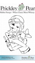 Prickley Pear leimasin Boy with Plane
