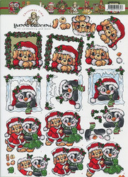 Yvonne Creations 3d-kuvat joulueläimet