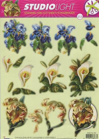 Studiolight stanssattu 3d-kuva kukat 253