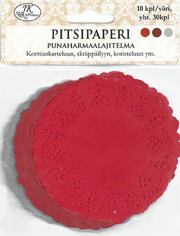 JK kakkupaperit punaharmaalajitelma 30kpl