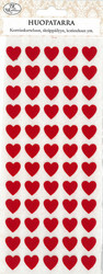 Jk huopatarra punainen sydän 100kpl