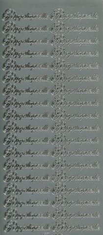 Ääriviivatarrat Rippilapselle hopea starform