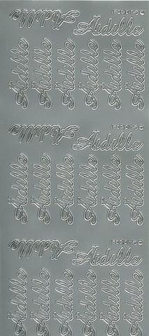 Ääriviivatarrat Äidille hopea goldlabel