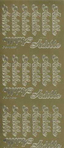 Ääriviivatarrat Äidille kulta goldlabel