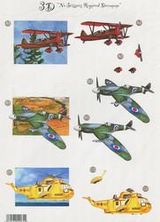 CU stanssattu 3d-kuva lentokoneet ja kopteri