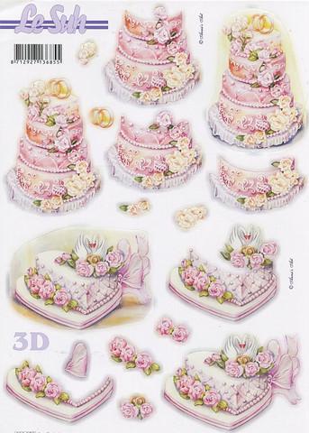 Lesuh stanssatut 3d-kuvat hääkakut