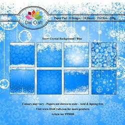 Dixi Craft paperikko Snow crystal background/blue 6x6