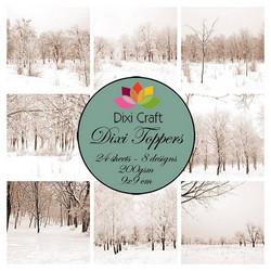 Dixi Craft Toppers korttikuvat lumiset puut et0312