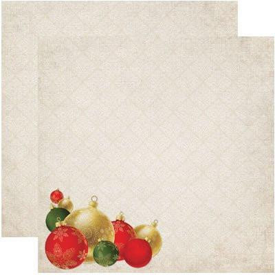 Reminisce paperi Deck the halls 12x12