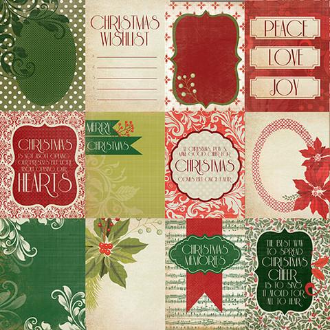 KaiserCraft skräppipaperi Christmas Carol Twelve days 12x12