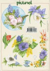 Korttikuvat picturel kevät kukat a5