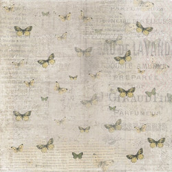 R paperi keltaiset perhoset 15,2x15,2cm/ 2kpl