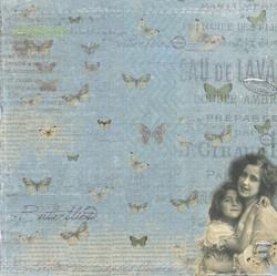 R paperi äiti, lapsi ja perhoset 15,2x15,2cm/ 2kpl