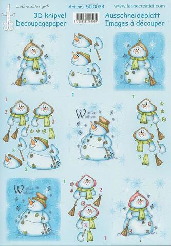 3d-kuva lumiukot LeCrea