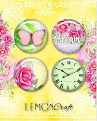 Lemoncraft Fresh summer napit badge 4kpl