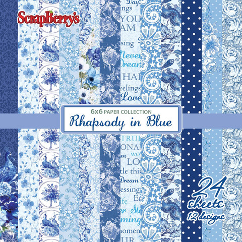 Scrapberry´s paperilehtiö Rhapsody in blue 6x6