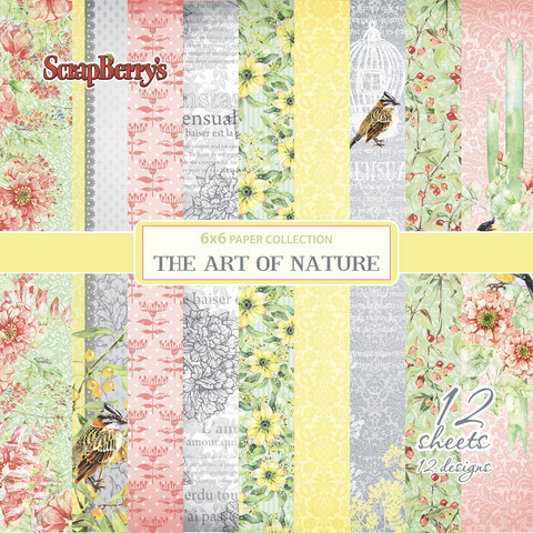 Scrapberry´s paperilehtiö The art of nature 6x6