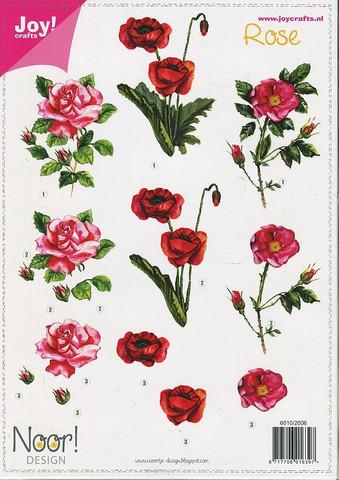 Joy Craft 3d-kuvat punaiset ruusut